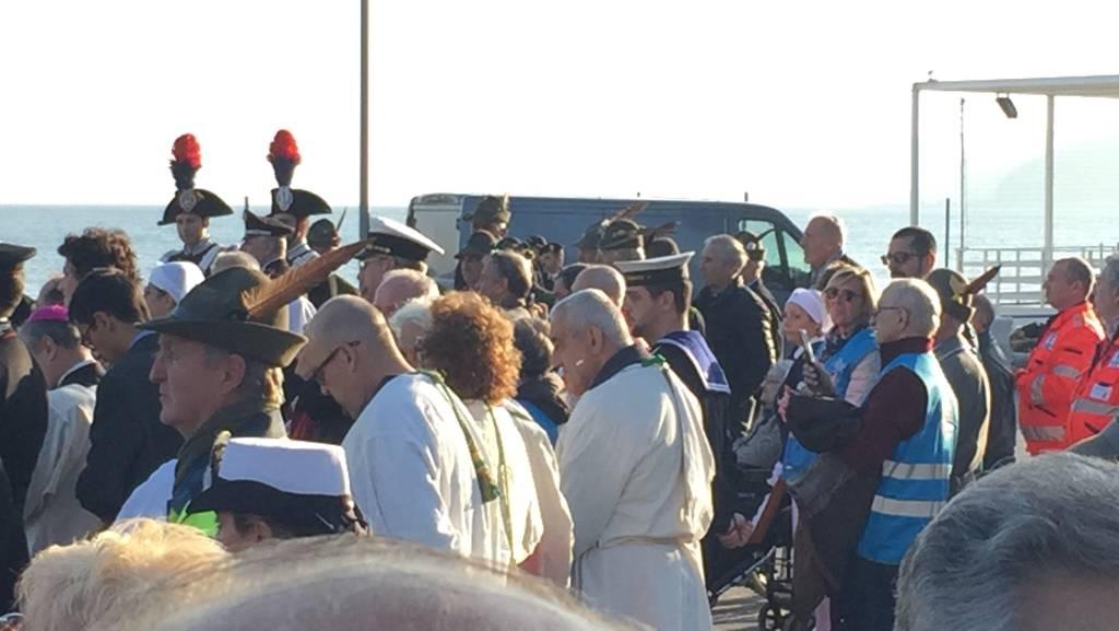 A Savona la Madonna di Fatima arriva in elicottero