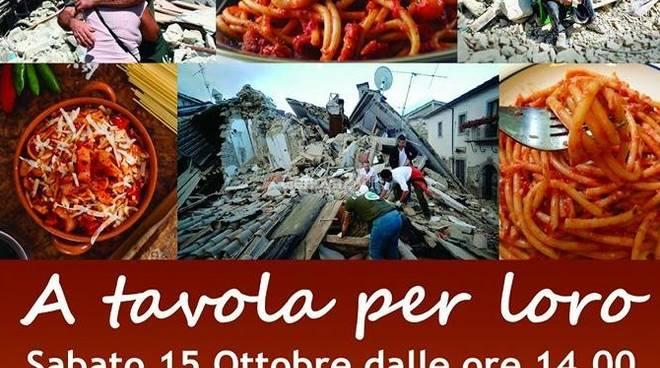 a tavola per loro terremoto sestri ponente