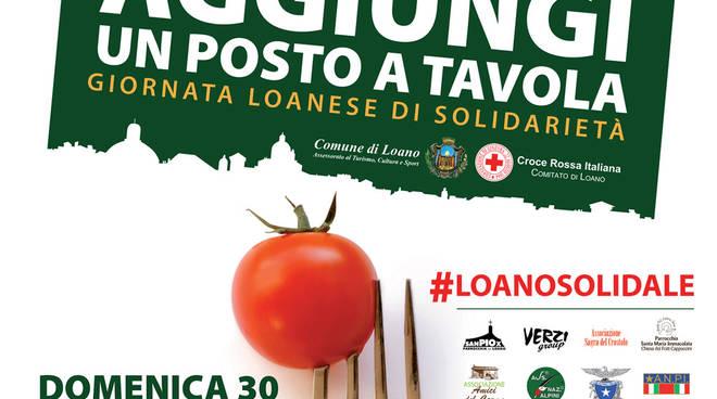 """""""Aggiungi un posto a tavola"""" Giornata Loanese di solidarietà pro-terremotati"""