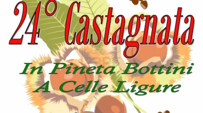 castagnata in Pineta bottini a Celle ligure