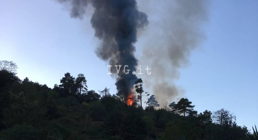 Incendio al Santuario a Savona