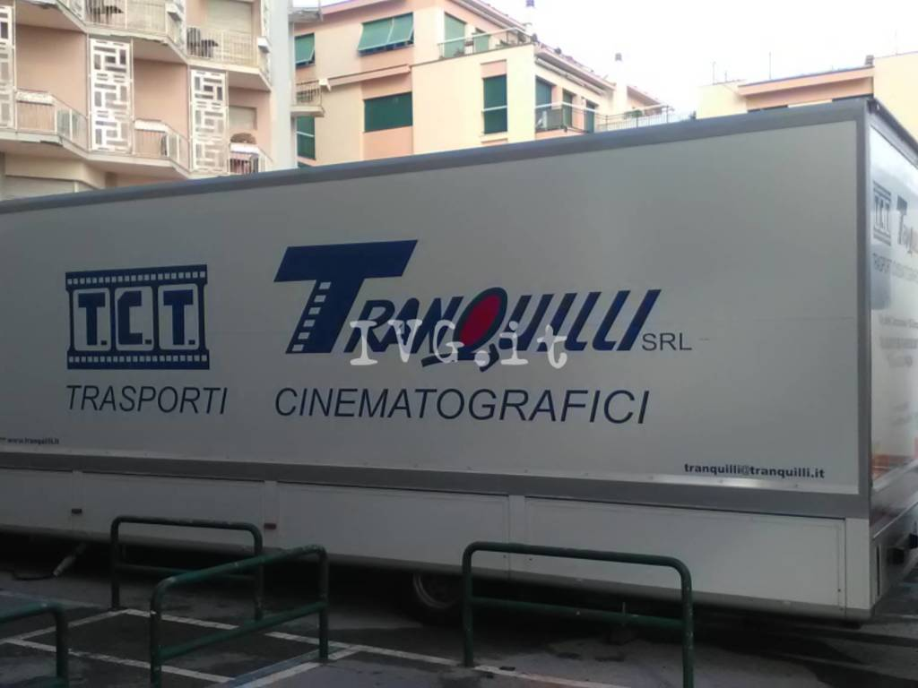 """Le riprese di """"Squadra Antimafia"""" a Varigotti"""