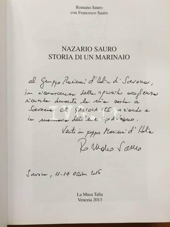 Progetto Sauro 100, la tappa savonese