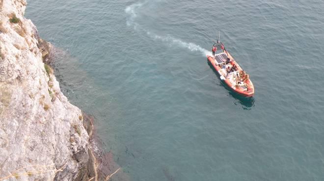 Una bomba nell\'area marina di Bergeggi