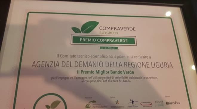 Premio Compraverde Agenzia Demanio Liguria