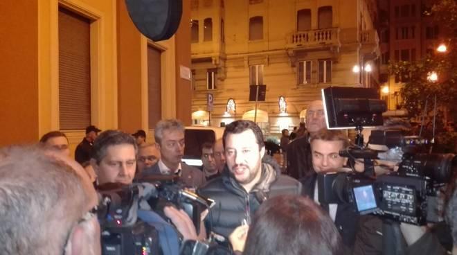 Matteo Salvini a Verona per chiudere la campagna referendaria del