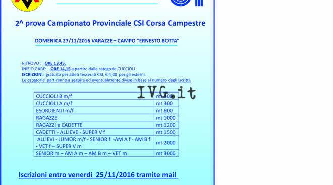 G.P. Provinciale Corsa Campestre 2^ gara