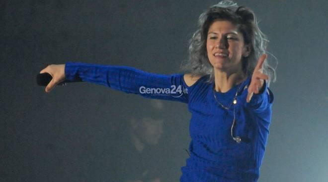 Elisa in Tour On Al 105 Stadium di Genova .