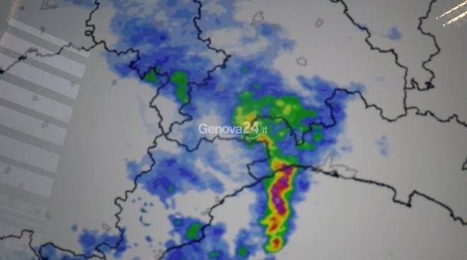 Il temporale su Genova