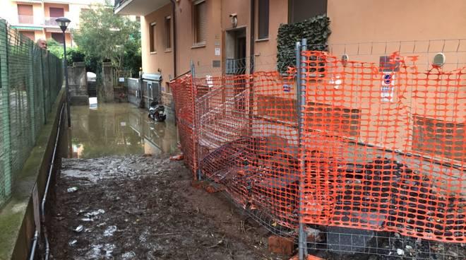 L'esondazione del torrente Maremola a Pietra Ligure