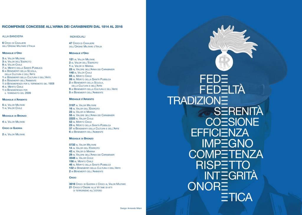 La presentazione del calendario dell'Arma dei Carabinieri 2016
