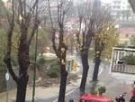 Maltempo, muraglione crollato ad Arenzano