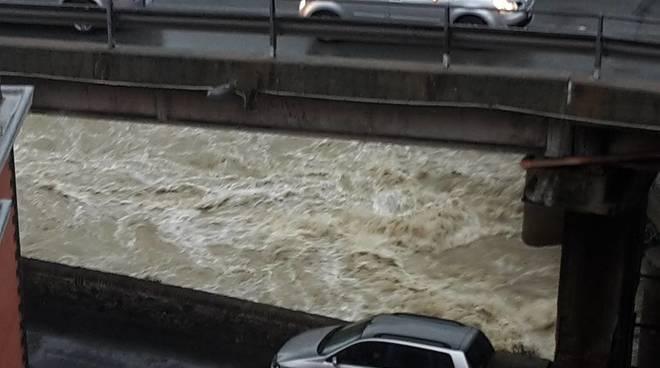 Maltempo, rio Cerusa