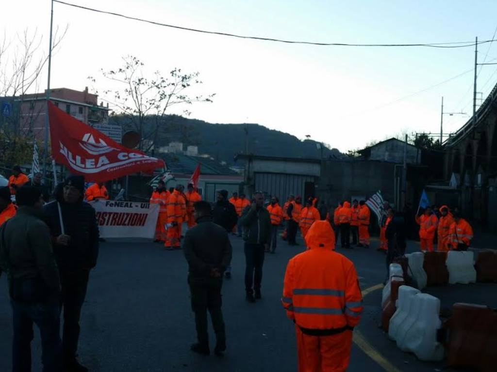 Nodo ferroviario, protesta a Fegino