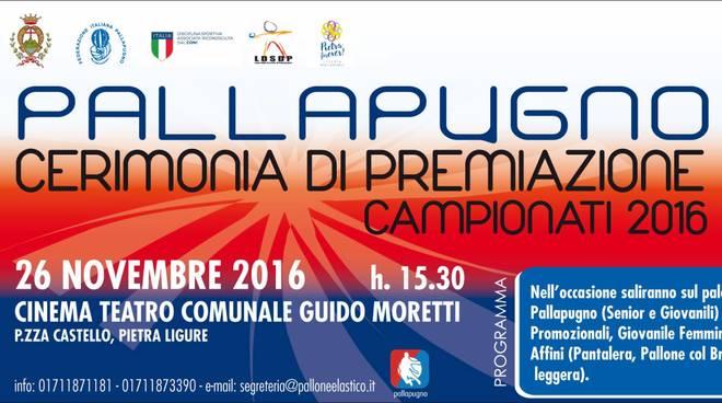 Pallapugno, Cerimonia di Premiazione Campionati 2016 a Pietra Ligure