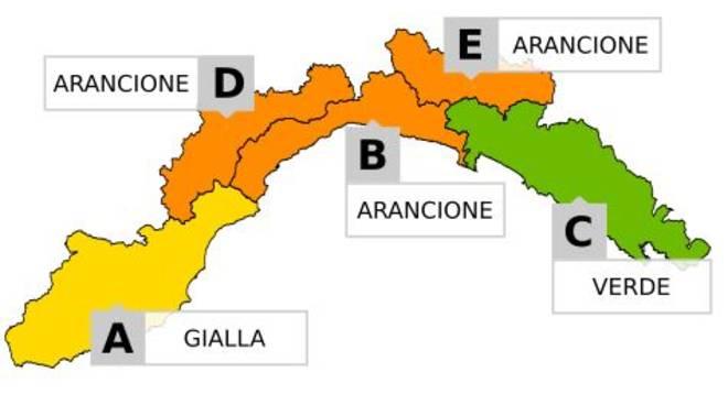 Prorogata allerta arancione in Liguria