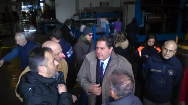 Protezione civile e Regione sui luoghi colpiti dal maltempo
