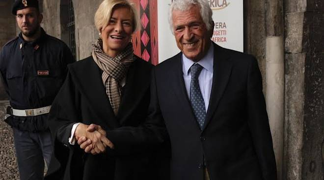 Roberta Pinotti ed Edoardo Berti Riboli