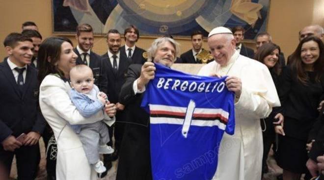 sampdoria papa francesco foto da sampdoria.it