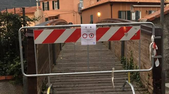 Chiusura Ponte Legno Toirano