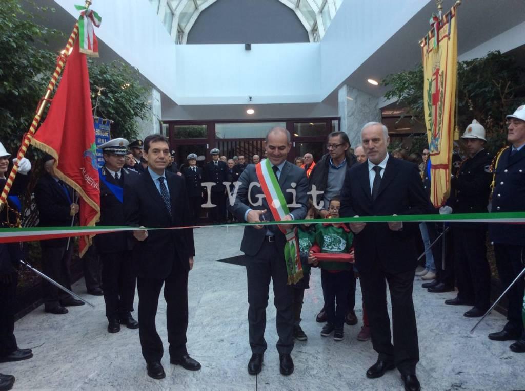 Albenga, inaugurazione del nuovo comando della polizia municipale