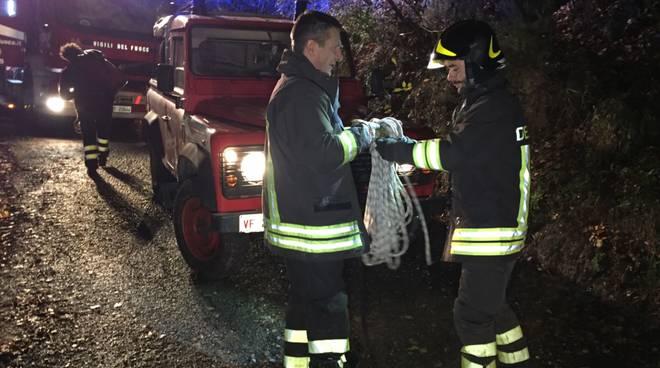 frana verzi notte soccorsi vvff vigili fuoco ambulanza
