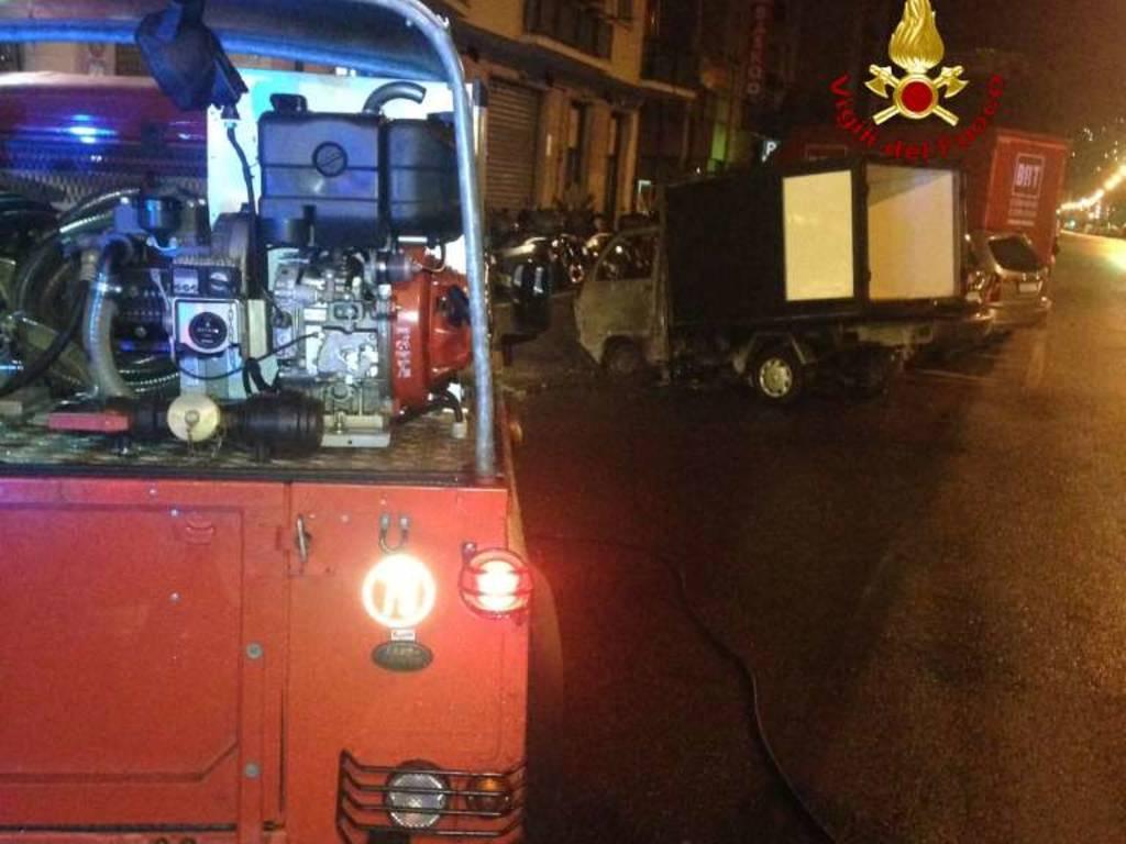 furgoni incendio molassana