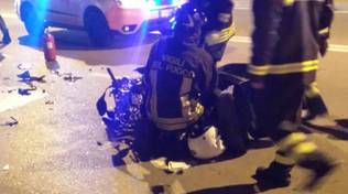incidente auto scooter notte
