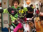 La mototerapia di Vanni Oddera entra nelle pediatria del San Paolo di Savona