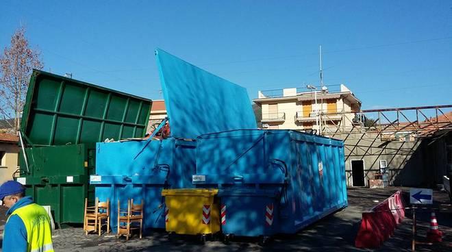 Lavori per la costruzione dell'ecocentro a Sestri Levante