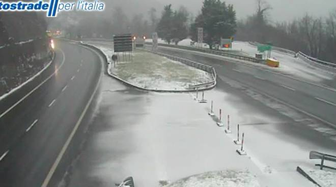 Autostrade: no viaggi zone piogge gelate