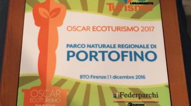 Oscar dell'Ecoturmo per il Parco di Portofino