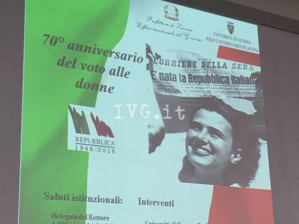 Savona, al Campus incontro sul voto alle donne