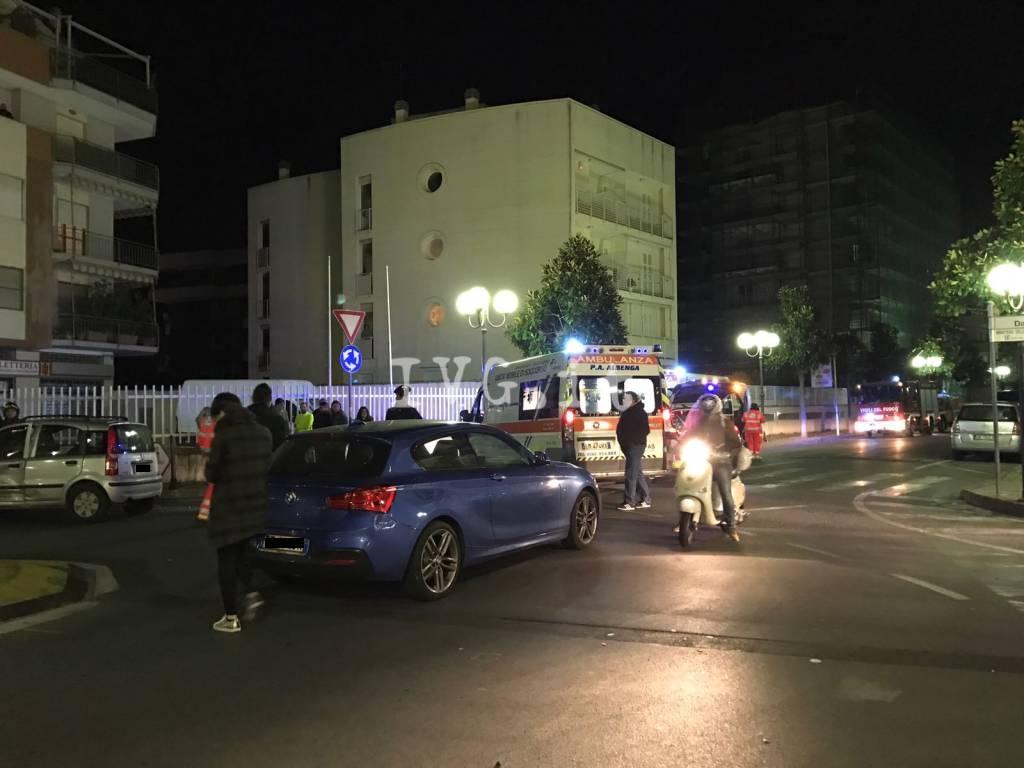Albenga, incidente tra via Dalmazia e via Patrioti