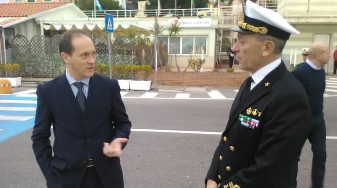 Andora, l'ammiraglio Pettorino in visita alla delegazione di spiaggia