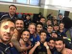Busalla selfie nello spogliatoio a Vado