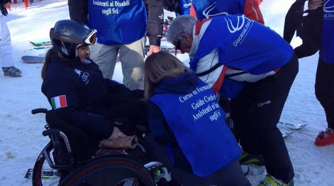 discesa liberi disabili sci