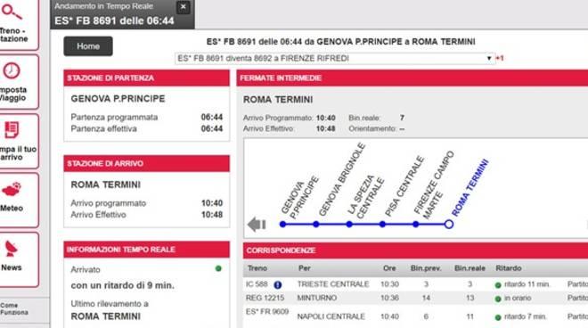 Trenitalia, nuovo collegamento Genova-Roma in meno di 4 ore