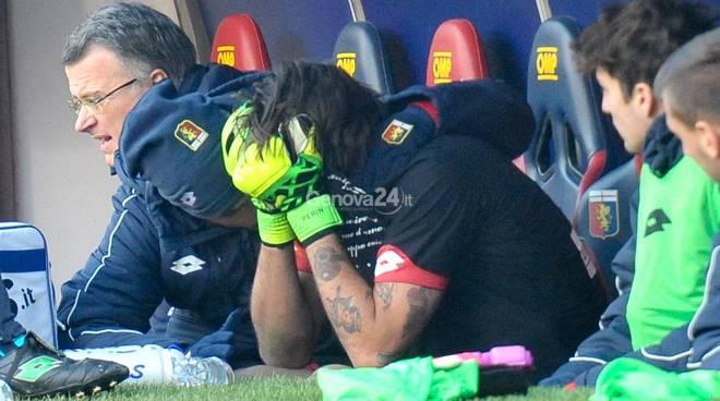 Genoa, stagione finita per Perin: crociato rotto