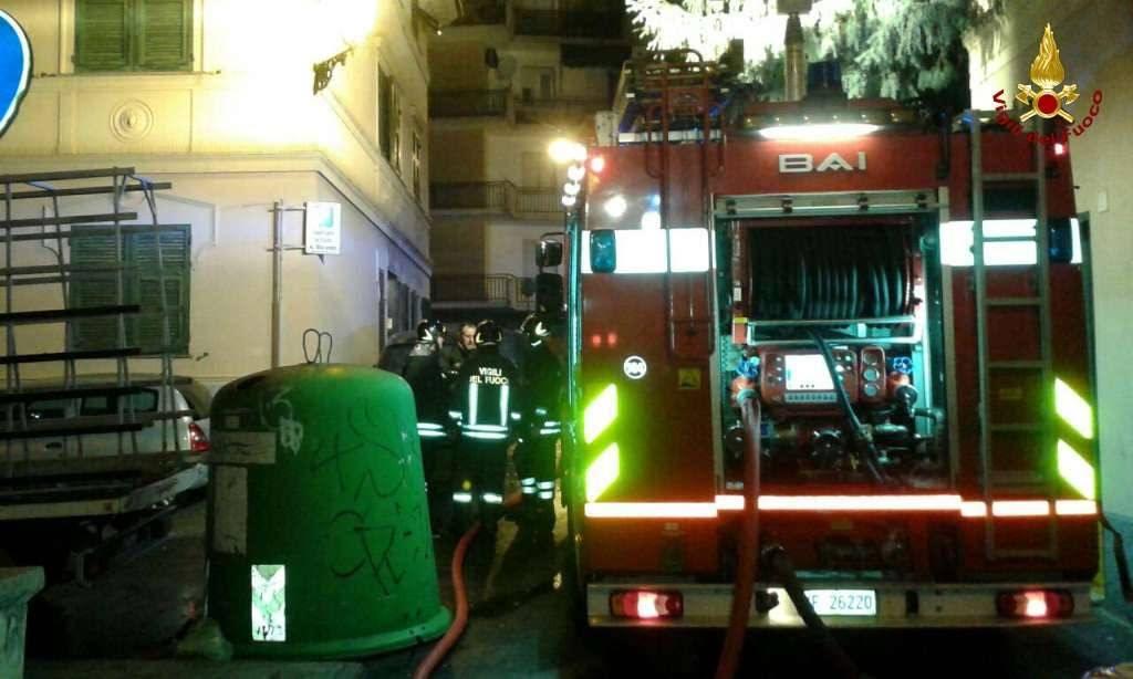 Incendio in appartamento a Chiavari