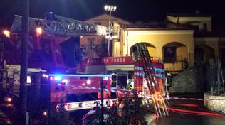 Incendio in via Orsolani a Loano