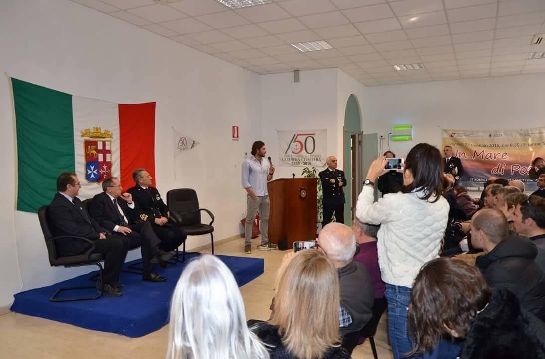 Matteo Iachino premiato dalla Capitaneria di Porto