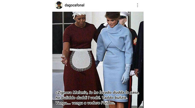 michelle obama cameriera