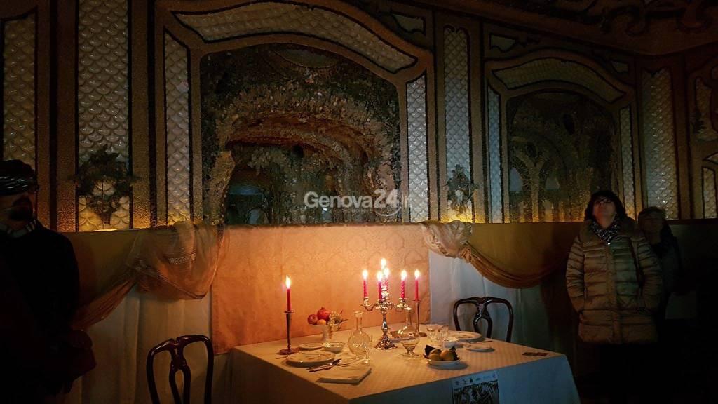 Sala conchiglie Villa Duchessa di Galliera