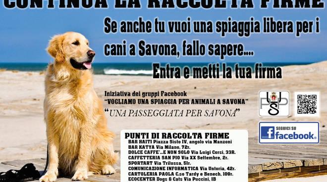 savona spiaggia cani animali