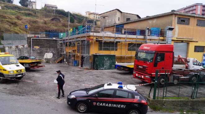 Sequestro carrozzeria Nuova Recovery Car di Arenzano