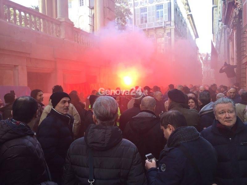 Amiu-Iren: la protesta a Tursi