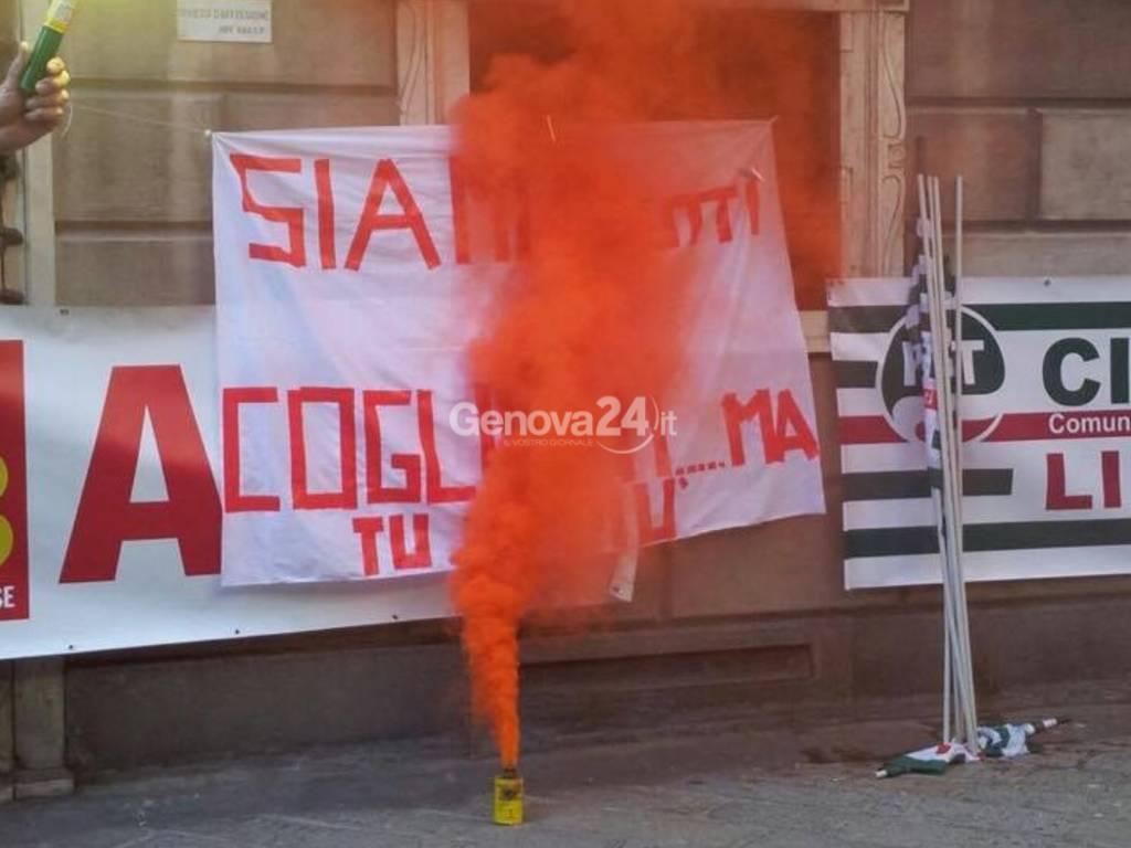 Amiu-Iren, la protesta a Tursi