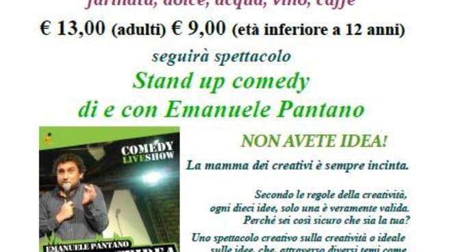 """""""NON AVETE IDEA! La Mamma dei creativi è sempre incinta"""" comedy live show alla SMS Cantagalletto"""