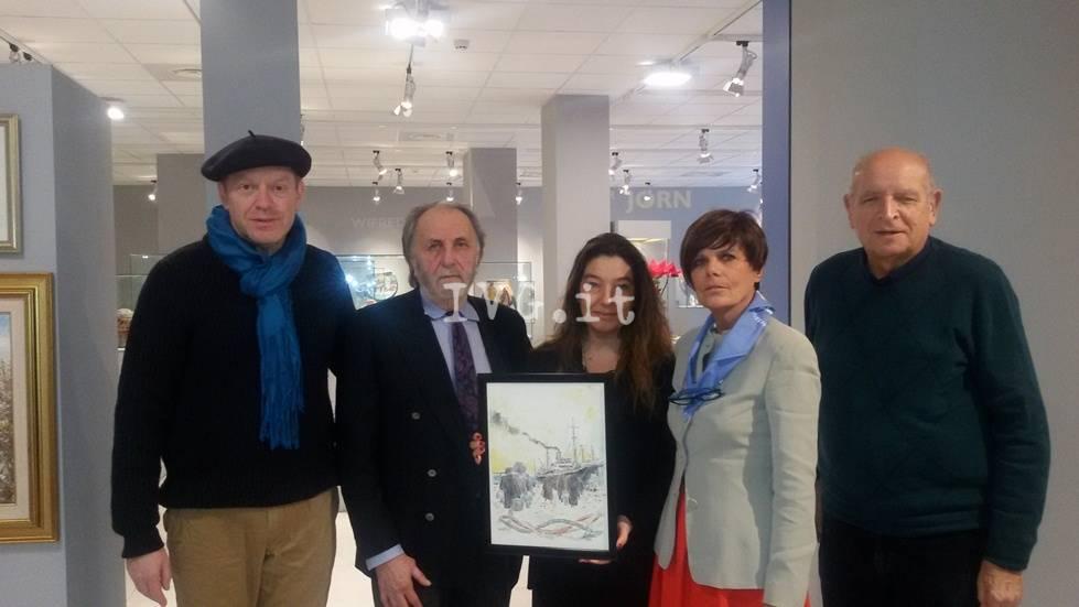 Beppe Ricci dona al Comune di Albissola Marina opera dedicata ai profughi giuliano-dalmati